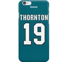 San Jose Sharks Joe Thornton Jersey Back Phone Case iPhone Case/Skin