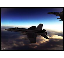 A pair of F-18 Super Hornets Photographic Print