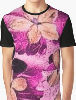 Vintage Floral Pink Beige Purple  Graphic T-Shirt