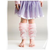 Little girl in pink leg warmers Poster