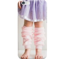 Little girl in pink leg warmers iPhone Case/Skin