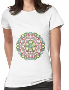 Romantic  Floral Pattern Womens Fitted T-Shirt