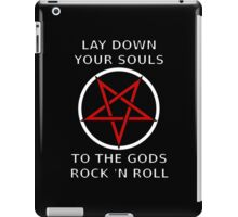 Lay down your souls to the gods rock 'n roll iPad Case/Skin