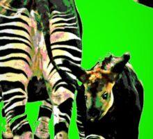 Okapi and Child Sticker