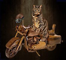 PURRING AND POSING - LONGING TO TAKE A RIDE-FELINE & MOTORCYCLE THROW PILLOW & TOTE BAG by ╰⊰✿ℒᵒᶹᵉ Bonita✿⊱╮ Lalonde✿⊱╮