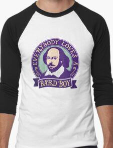 William Shakespeare Bard Boy Portrait Men's Baseball ¾ T-Shirt