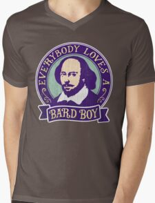 William Shakespeare Bard Boy Portrait Mens V-Neck T-Shirt