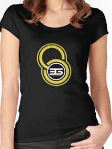 crop circle 6 Women's Fitted Scoop T-Shirt