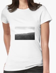 Landscape black and white Womens Fitted T-Shirt