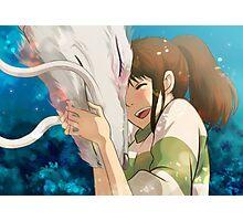 Dragon Haku and Chihiro Photographic Print