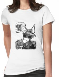 Donkey/elephant Womens Fitted T-Shirt