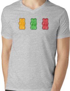 Vivid Gummy Bears Mens V-Neck T-Shirt