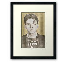 Sinatra Mug Shot - Gold Framed Print