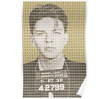 Sinatra Mug Shot - Gold Poster