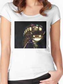 Cat Bus  Women's Fitted Scoop T-Shirt