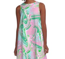 Abstraction. Wave . A-Line Dress