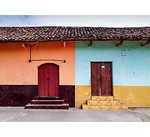 Colorful doors in the streets of Granada, Nicaragua Photographic Print