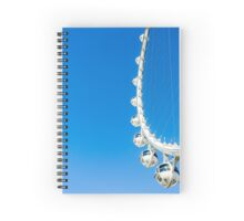 White Ferris Wheel with blue sky background  Spiral Notebook