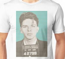 Sinatra Mug Shot - Light Blue Unisex T-Shirt