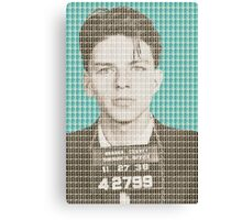 Sinatra Mug Shot - Light Blue Canvas Print
