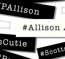 Hashtag Allison - Black & White Sticker