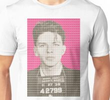Sinatra Mug Shot - Pink Unisex T-Shirt