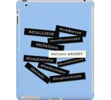 Hashtag Allison - Black & White iPad Case/Skin