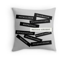 Hashtag Allison - Black & White Throw Pillow