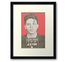 Sinatra Mug Shot - Red Framed Print