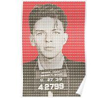 Sinatra Mug Shot - Red Poster