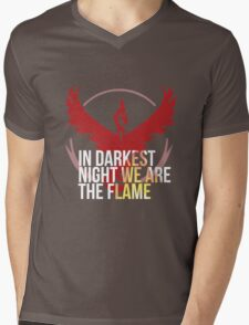 Team Valor - In Darkest Night We are the Flame Mens V-Neck T-Shirt