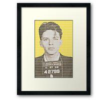 Sinatra Mug Shot - Yellow Framed Print