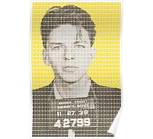Sinatra Mug Shot - Yellow Poster