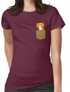cat in my pocket Womens Fitted T-Shirt