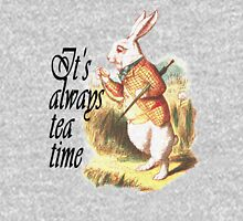 White Rabbit Alice in Wonderland Vintage Art Pullover