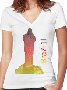 Bra7-1l Women's Fitted V-Neck T-Shirt