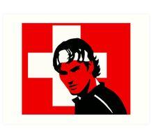 Roger Federer (Official Genius Banner Design) Art Print