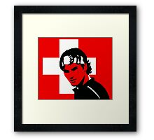 Roger Federer (Official Genius Banner Design) Framed Print