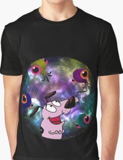 Courage Dog And The Aliens Graphic T-Shirt