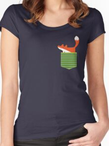 fox in my pocket Women's Fitted Scoop T-Shirt