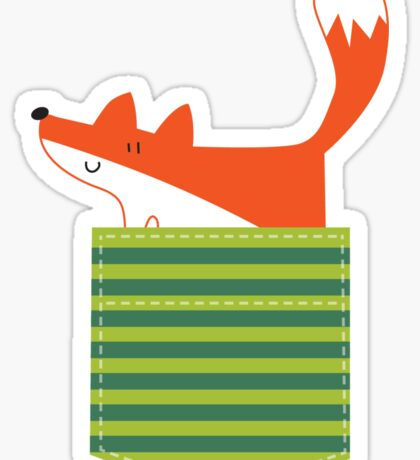 fox in my pocket Sticker