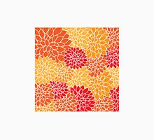 Floral pattern (red, yellow and orange) Unisex T-Shirt