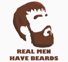 Real Men Have Beards Baby Tee