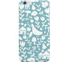 silhouette - ducks egg blue iPhone Case/Skin
