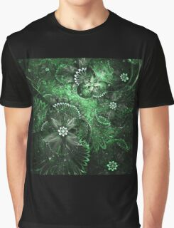 Green Garden - Abstract Fractal Artwork Graphic T-Shirt