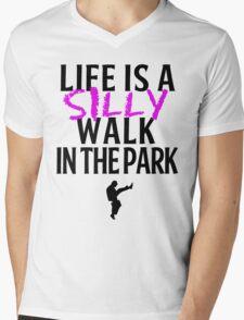Silly Walks Mens V-Neck T-Shirt
