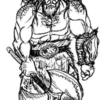 Barbarian Sketch by THSWESSEL