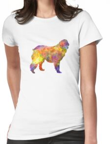 Leonberger in watercolor Womens Fitted T-Shirt