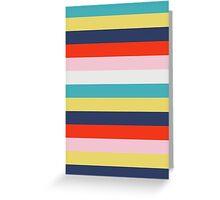 Retro stripes Greeting Card