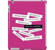 Hashtag Allison - White & Black iPad Case/Skin